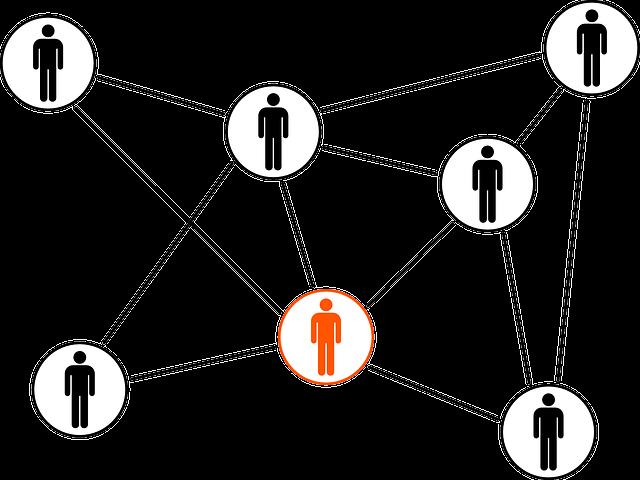 Grafik eines Netzwerks von Personen